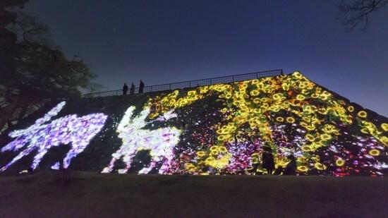 福岡城でチームラボ 光の祭2