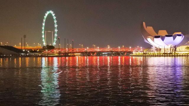 シンガポールフライヤー ライトアップ