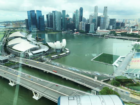 シンガポールフライヤー 後半で見られる風景