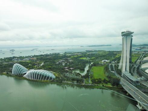 シンガポールフライヤー 前半で見られる風景