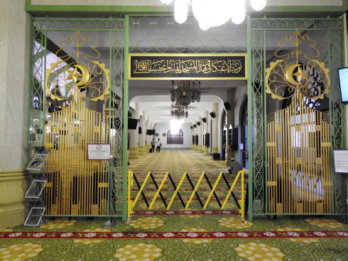 サルタンモスク(シンガポール)館内の様子