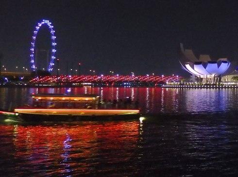 シンガポールフライヤーの夜景