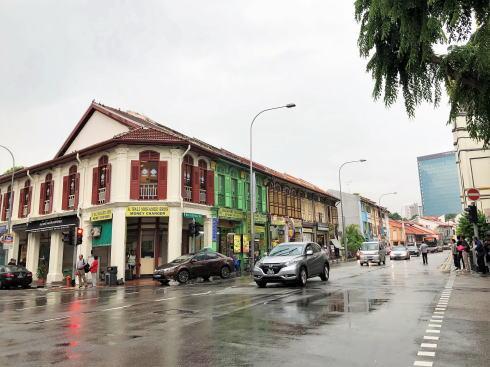 シンガポール アラブストリート(カンポングラム)エリアの建物