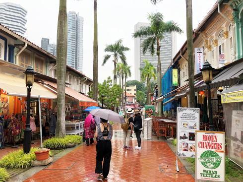 シンガポール アラブストリート(カンポングラム)サルタンモスクから見るストリート