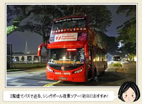 シンガポール夜景バスツアー!2階建バスで観光スポットを巡ろう