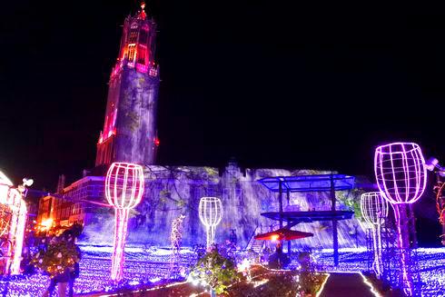 ハウステンボスのイルミネーション「光の王国」 ドムトールン