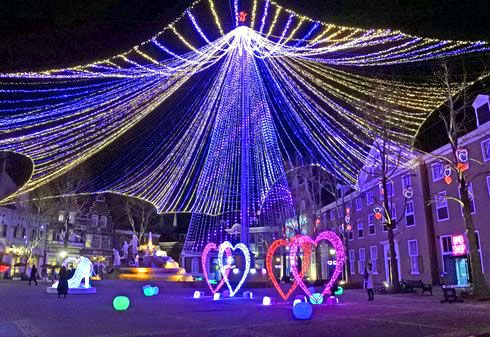 ハウステンボスのイルミネーション「光の王国」 光の天空ツリー2