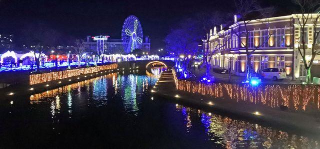 ハウステンボスのイルミネーション「光の王国」 園内の様子