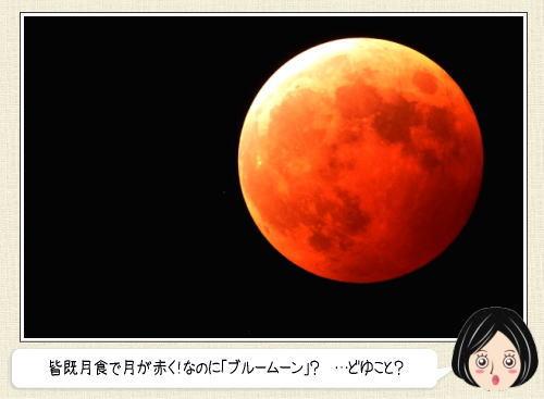 赤いブルームーンの皆既月食!1月末は空を見上げて