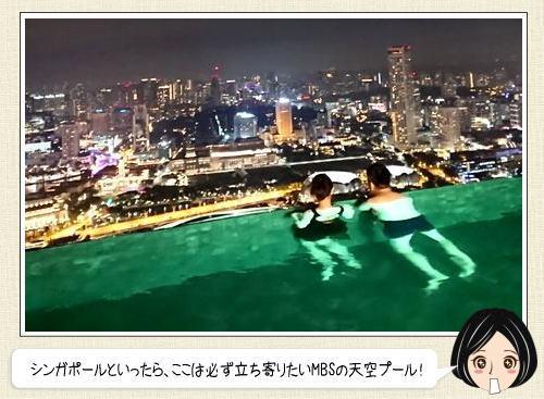 シンガポールを制覇した気分になれる、マリーナベイサンズのプールからの絶景