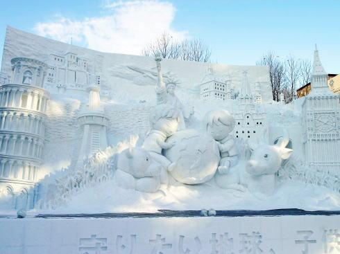さっぽろ雪まつり 雪像