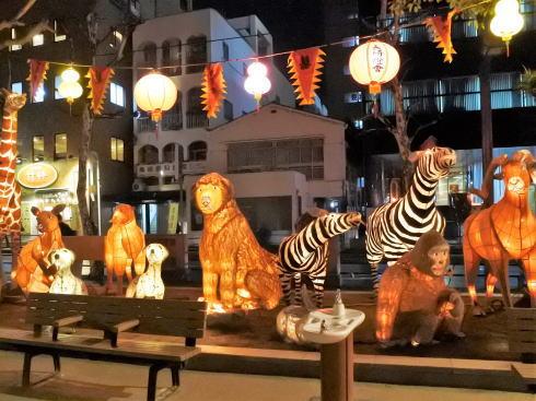 長崎ランタンフェスティバル 中央公園の動物ランタン