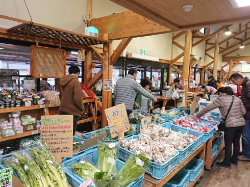 福岡県八女市 道の駅たちばな 店内の様子