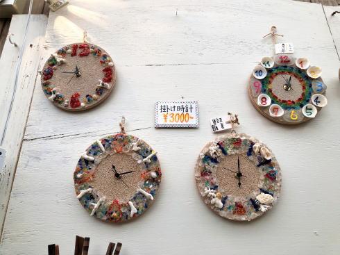 琉球村に併設「沖縄の駅ちゃんぷるー」 時計づくり