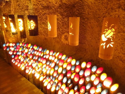 福岡県八女市 竹灯籠で「竹あかり幻想の世界」 画像5