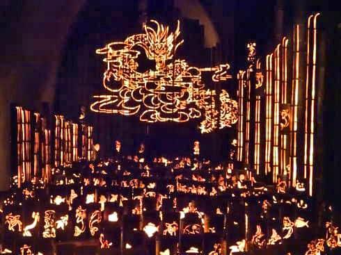 福岡県八女市 竹灯籠で「竹あかり幻想の世界」 画像11