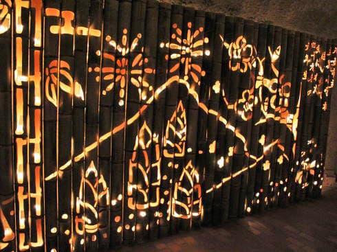 福岡県八女市 竹灯籠で「竹あかり幻想の世界」 画像10
