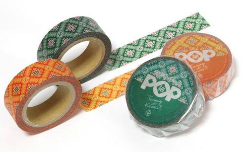 大島紬のマスキングテープ 紬ポップ、ご当地マステ