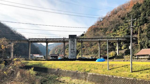 JR三江線 宇都井駅(天空の駅) 全景