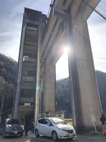 JR三江線 宇都井駅(天空の駅) 階段の塔