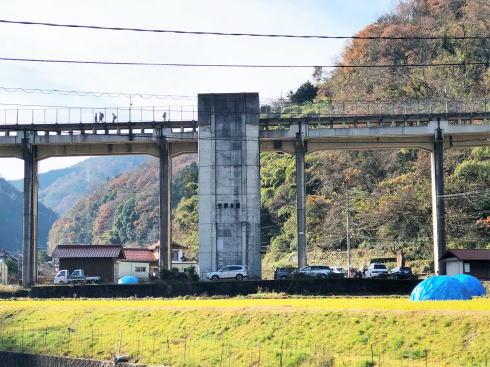 JR三江線 宇都井駅(天空の駅) 全景2