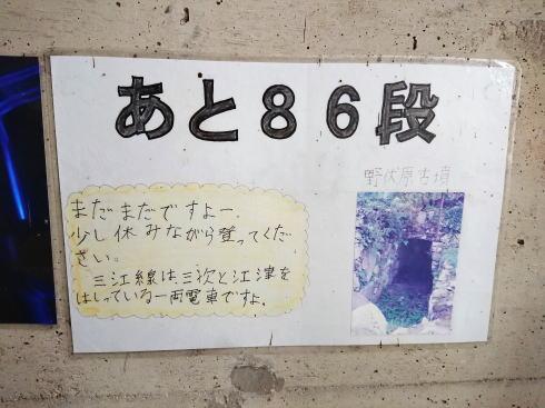 JR三江線 宇都井駅(天空の駅) 階段の様子2