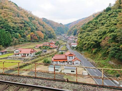 JR三江線 宇都井駅(天空の駅) からの景色