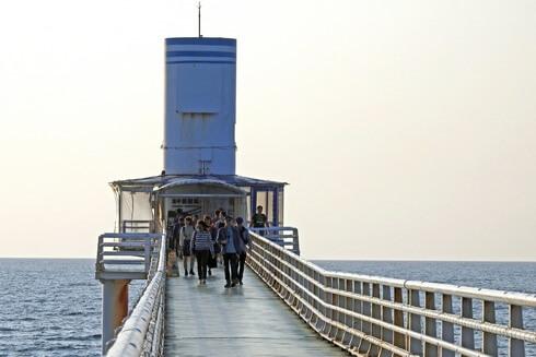 海中展望塔、ブセナ海中公園で