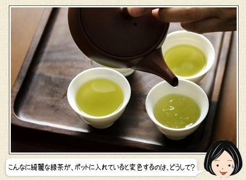 なぜ?緑茶をポットに入れたら茶色く変色する理由