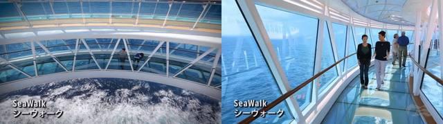 マジェスティックプリンセス、ガラス張りのシーウォーク(Sea Walk)