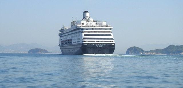 クルーズ客船、フォーレンダムが広島初寄港