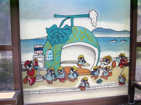 長崎フルーツバス停 メロンの絵のバス停2