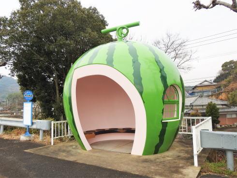 長崎フルーツバス停 スイカ