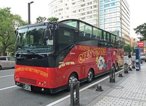 流れる夜景と風が爽快!「福岡オープントップバス」で主要観光スポットめぐり