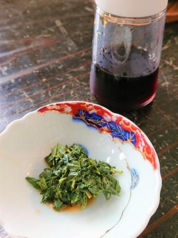 茶葉を食べる 食茶 おひたしに