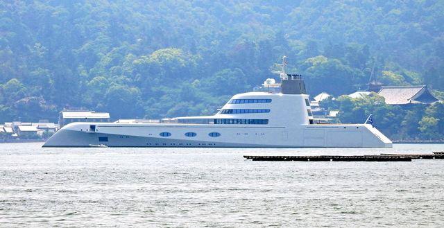 個人所有の世界最大級ヨット、モーターヨットA
