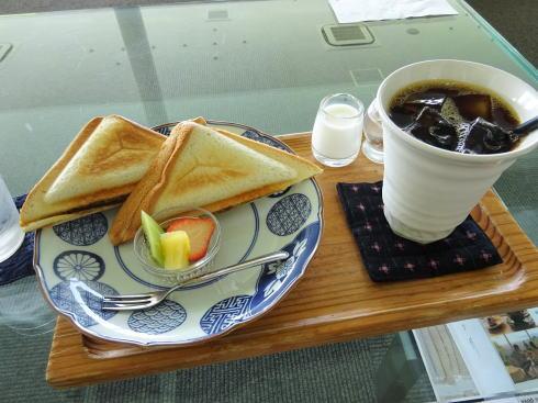 福岡絶景カフェ 茶房わらび野 ホットサンド