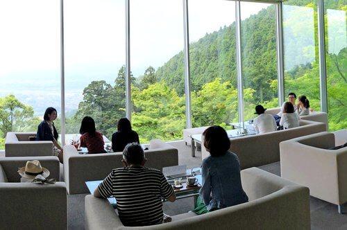 福岡の絶景カフェ、茶房わらび野