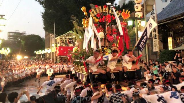 博多祇園山笠「追い山笠」の写真7