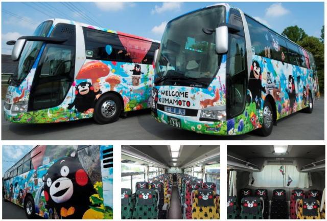 くまモンに染まったラッピングバスでお出迎え!熊本-阿蘇 週末観光に