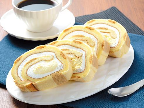 大きなもち食感ロール(ホイップクリーム&カスタードホイップ)