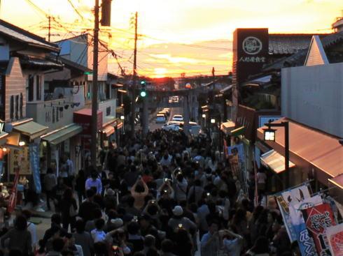 福岡・宮地嶽神社「光の道」 一般観覧エリア(下)