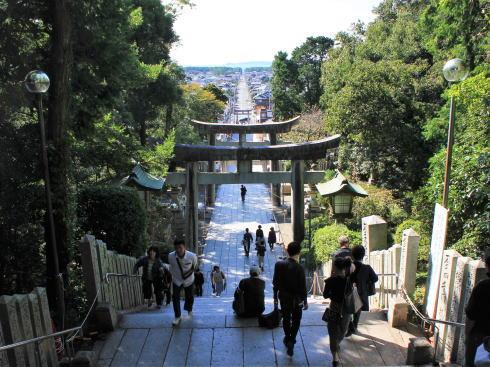 福岡・宮地嶽神社 参道の風景(昼)