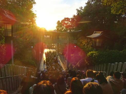 福岡・宮地嶽神社「光の道」 一般観覧エリア