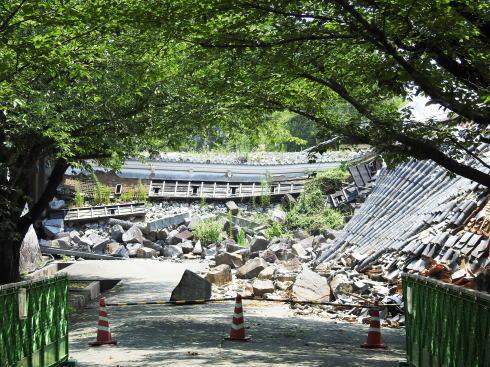熊本城 地震の被害2