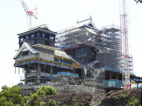 熊本城 復旧は天守閣 優先、外観2019春・公開2021年に向け