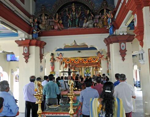 スリマリアマン寺院、礼拝堂らしき場所