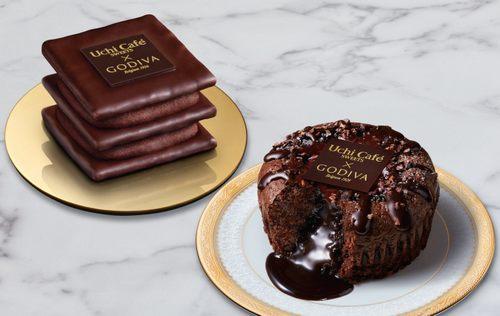 ゴディバ×ローソンのショコラミルフィーユとフォンダンショコラ