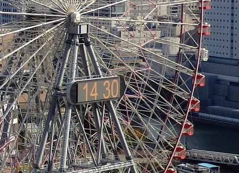 横浜の観覧車「コスモクロック21」の時計