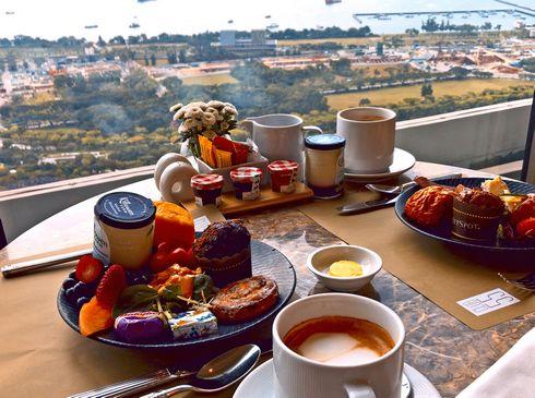 マリーナベイサンズ CLUB55 朝食の風景4